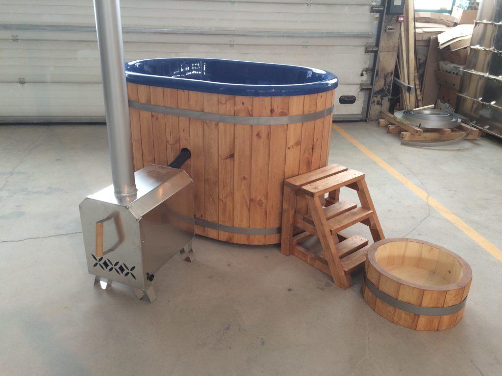 Badezuber oval Wanne für zwei Personen ergonomisch