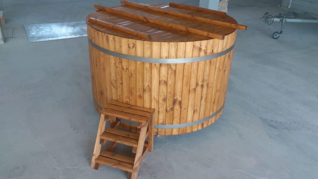 Holzbadezuber mit externem Ofen 30KW