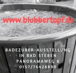 Badezuber-Hottub | Holzbefeuerte Badetonne | Badefass aus GFK