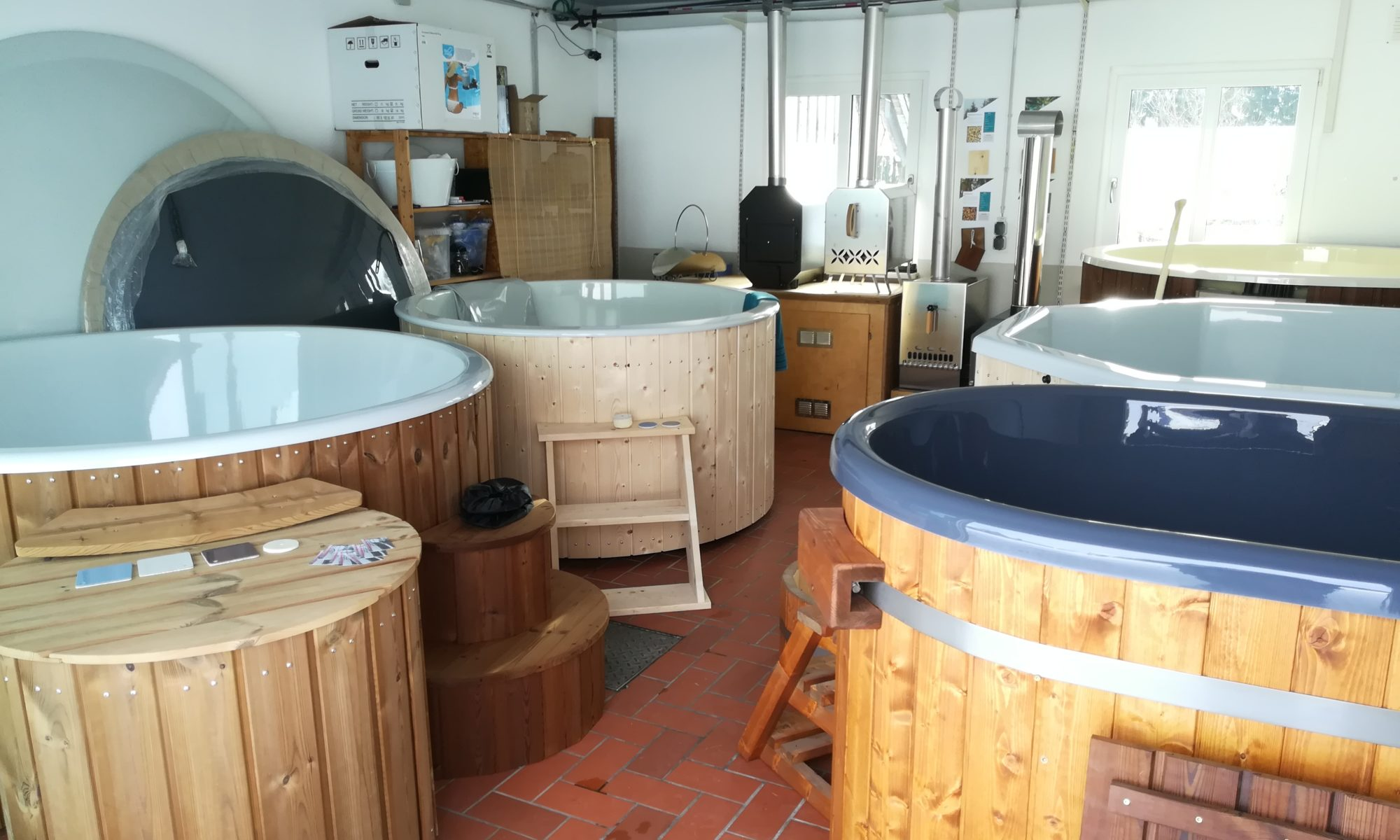 Showroom für Hottubs in Bayern