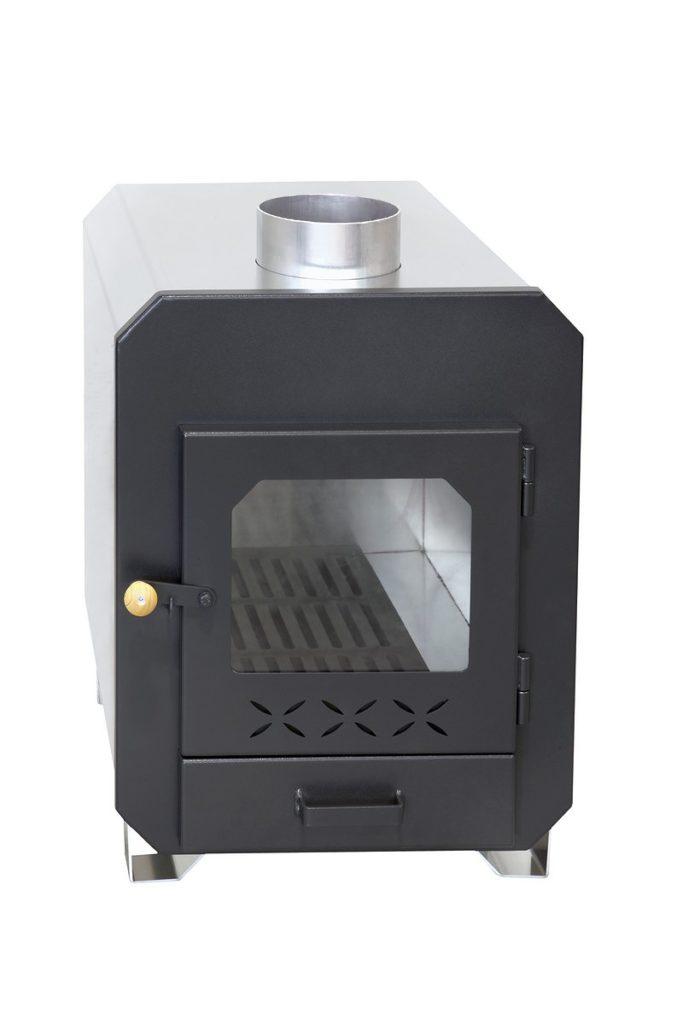 externer Ofen mit Sichtfenster 35KW