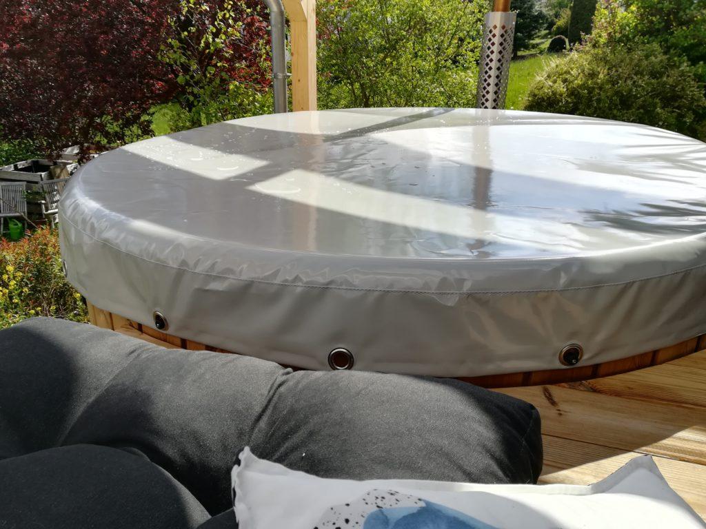 Sommerplane Abdeckung Cover für Badetonne Badezuber Badefass Badebottich