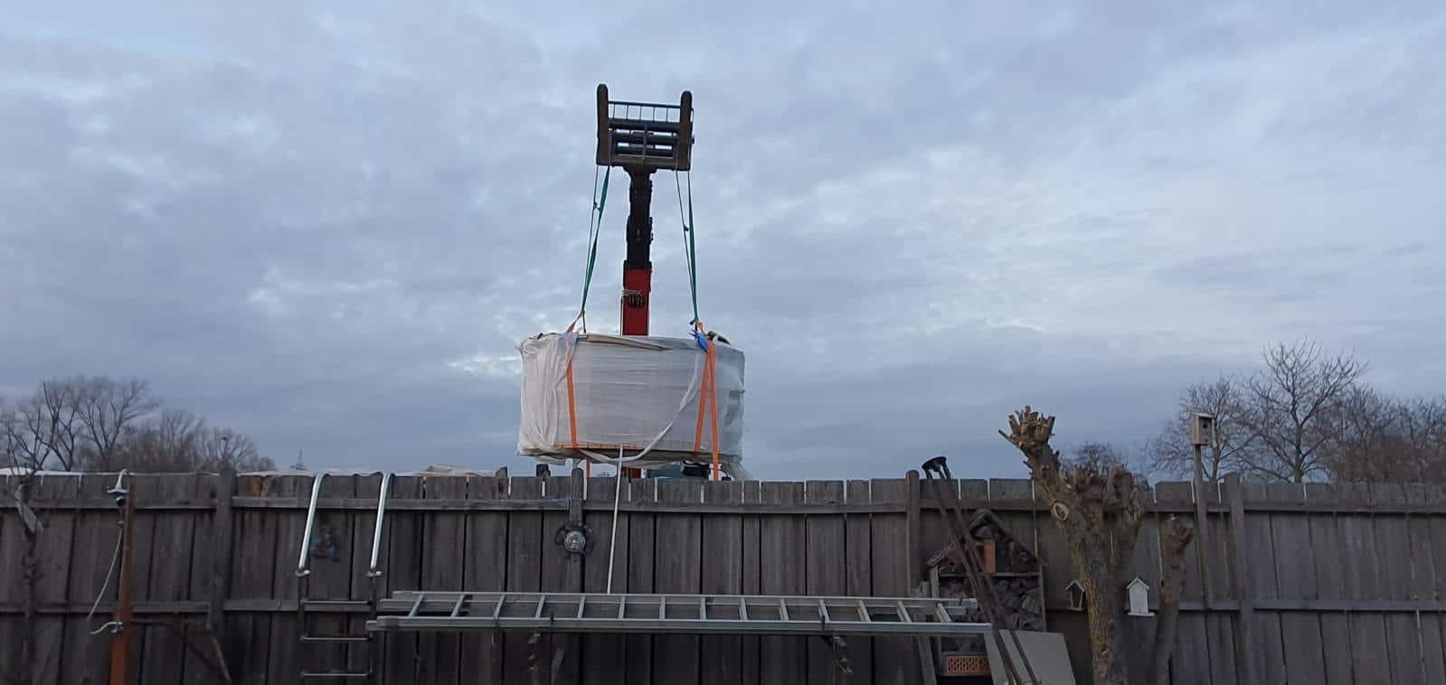 Badetonne Ladungssicherung