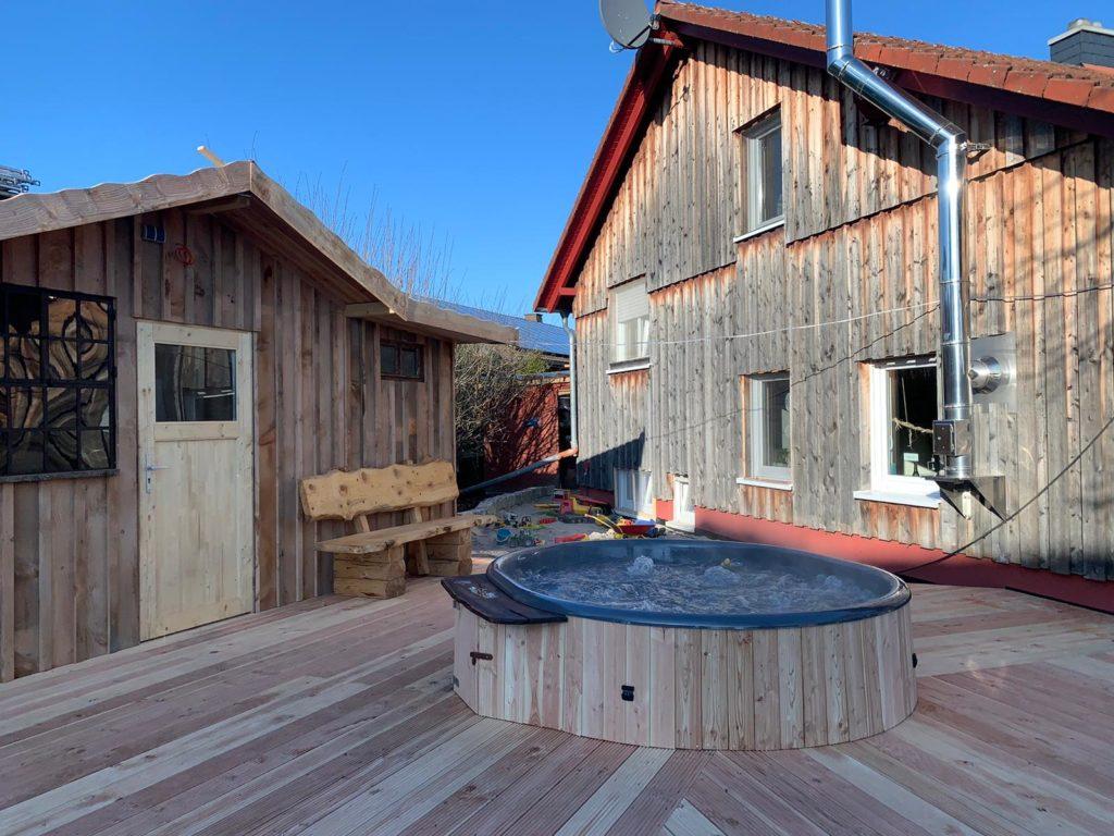 Terrasseneinbauset Ovale Badetonne 200x240cm
